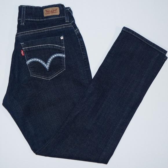 ffddd6a7 Levi's Jeans | Levis 529 Curvy Skinny Leg 2 Button Dark Wash 10m ...